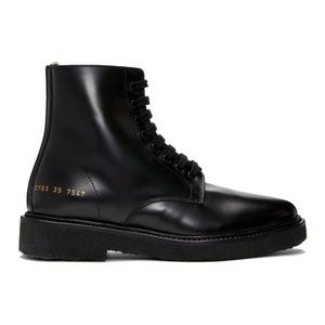 Woman by Common Projects Black Combat Boots